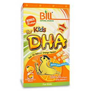 Bill Kids DHA Seal Oil Natural, 儿童海豹油,120 Softgels