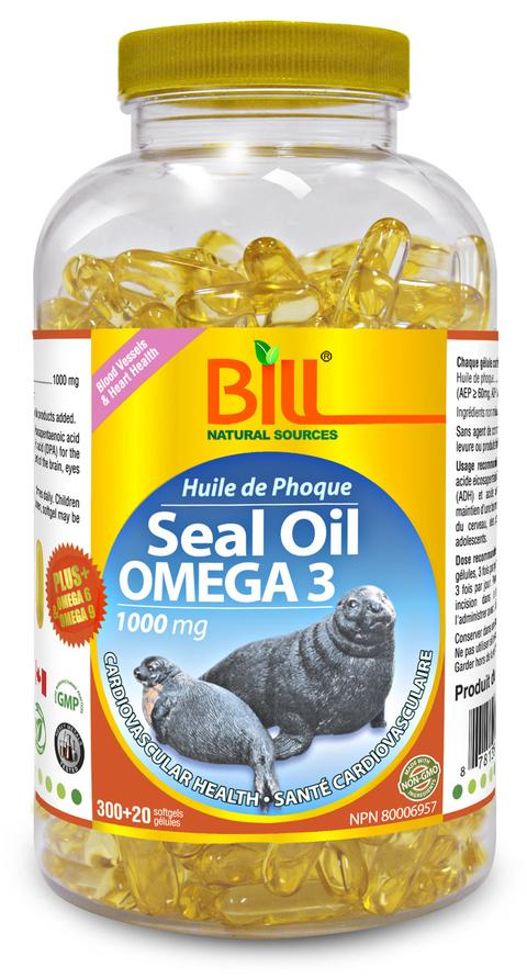 Bill Seal Oil Omega3, 金装海豹油,1000mg, 320 Gels