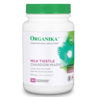 Organika Milk Thistle, 护肝片, 250mg, 180 Vcaps