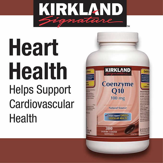 Kirkland Signature Coenzyme Q10, 100mg, 300 Softgels