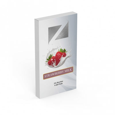 ZIIP PODS Strawberry Milk (Pack of 4) - newcityvapes