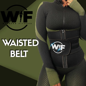 "REFLECTIVE BLACK"" WAISTED BELT"