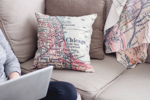 Florida Map Pillow