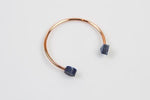 Corian Copper Bangle - Cobalt