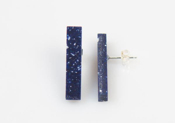 Corian Stick Earrings - Cobalt