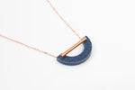Corian U Necklace - Cobalt