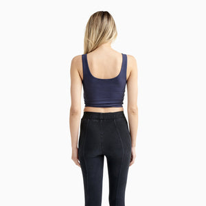 Organic Cotton Fitted Crop Top