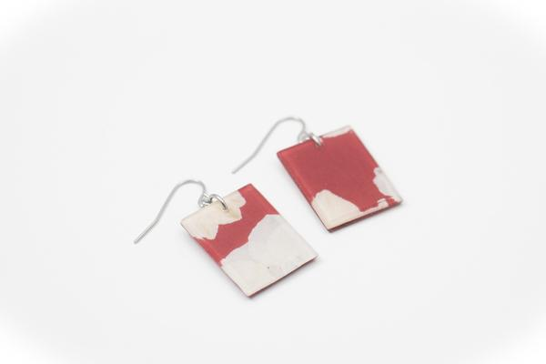 Fleur Marsala Earrings - Regular