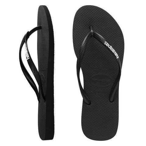 Havaianas Slim Logo Pop Up Black