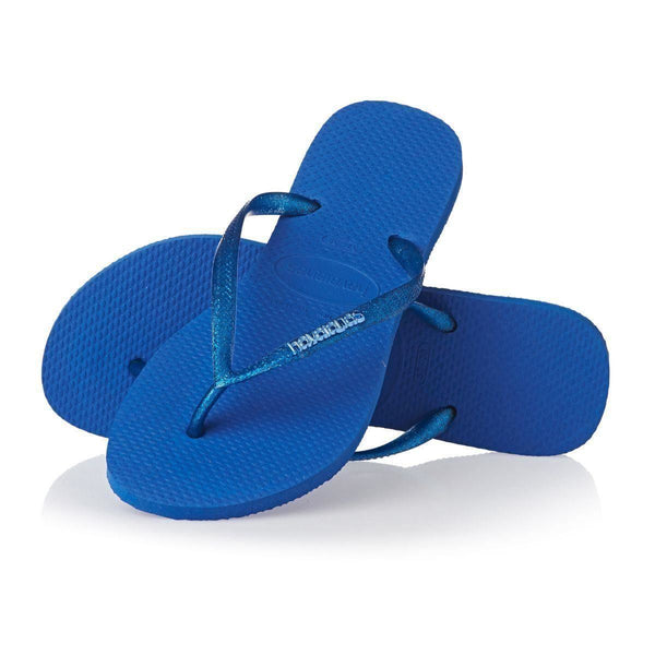 Havaianas Slim Logo Metallic Light Blue