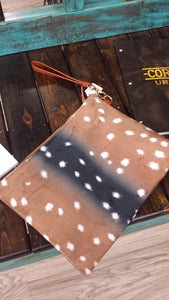 Axis Print (Ipad Fits)Wristlet