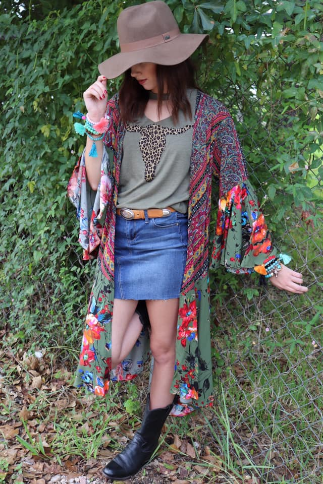 Umgee Boho Duster in Olive, Mustard, or Pink