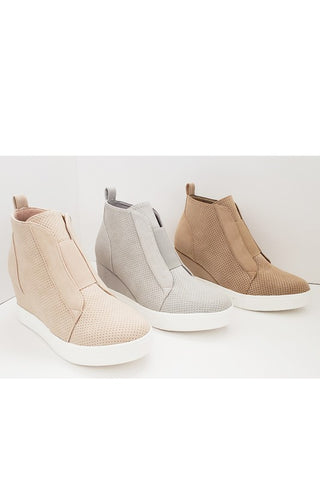 Wedged Sneakers Oatmeal