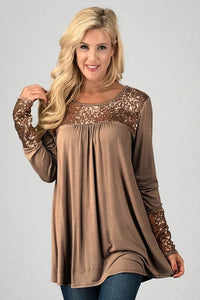 Golden Brown Sequin Tunic