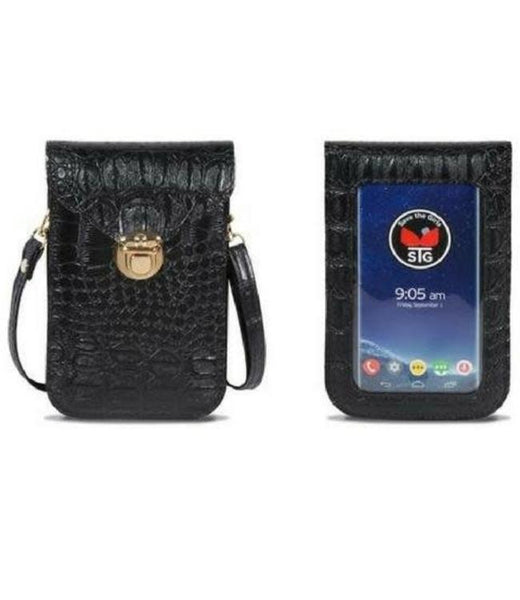 Save The Girls GATOR Texture Touch Screen Purse