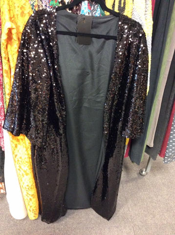 Sequin Duster Black or Rose Gold
