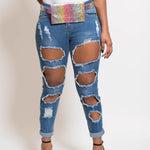 Cut Me Out Jeans (Medium Blue)