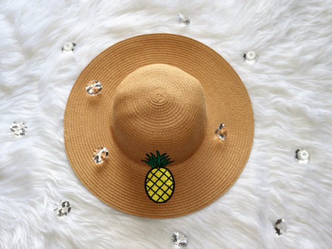 Pineapple Breeze Floppy Hat