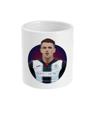 St Mirren FC Captain Stephen McGinn Cartoon Mug from Through the Turnstile home of Scottish Football fan merchandise - ceramic mug middle front view