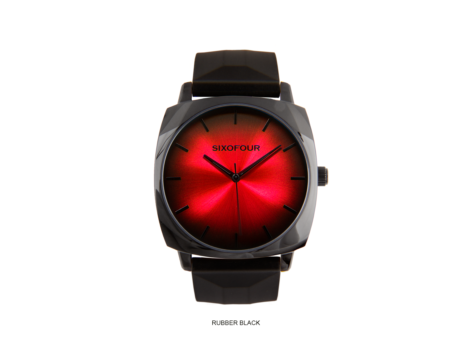 coal harbour red with black rubber strap