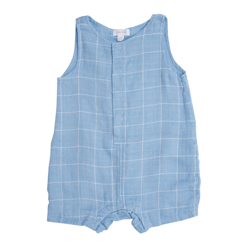 Off the Grid Shortie Romper Blue