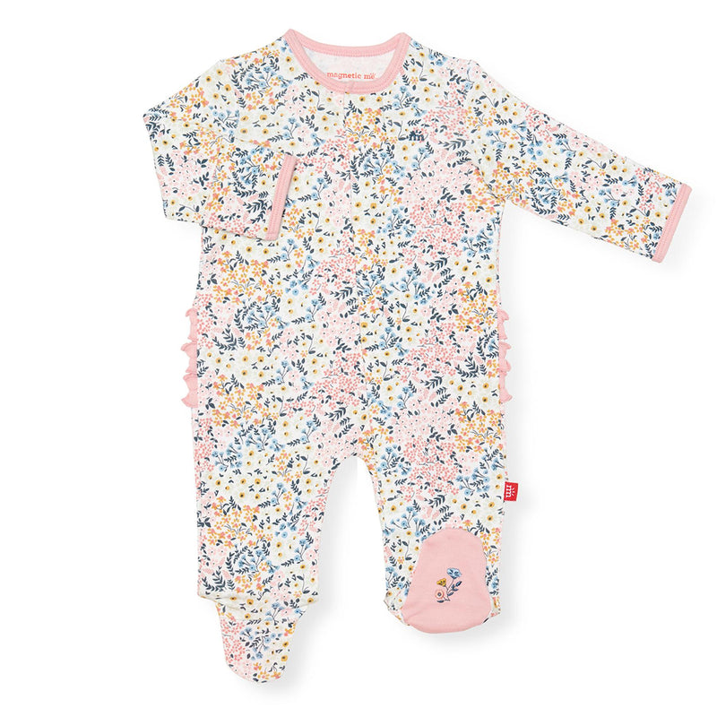 Magnetic Organic Cotton Footie Pajama