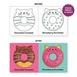 Bath Cat Donuts Color Magic