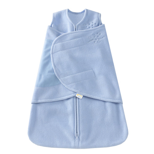 fleece sleep sack swaddle blue