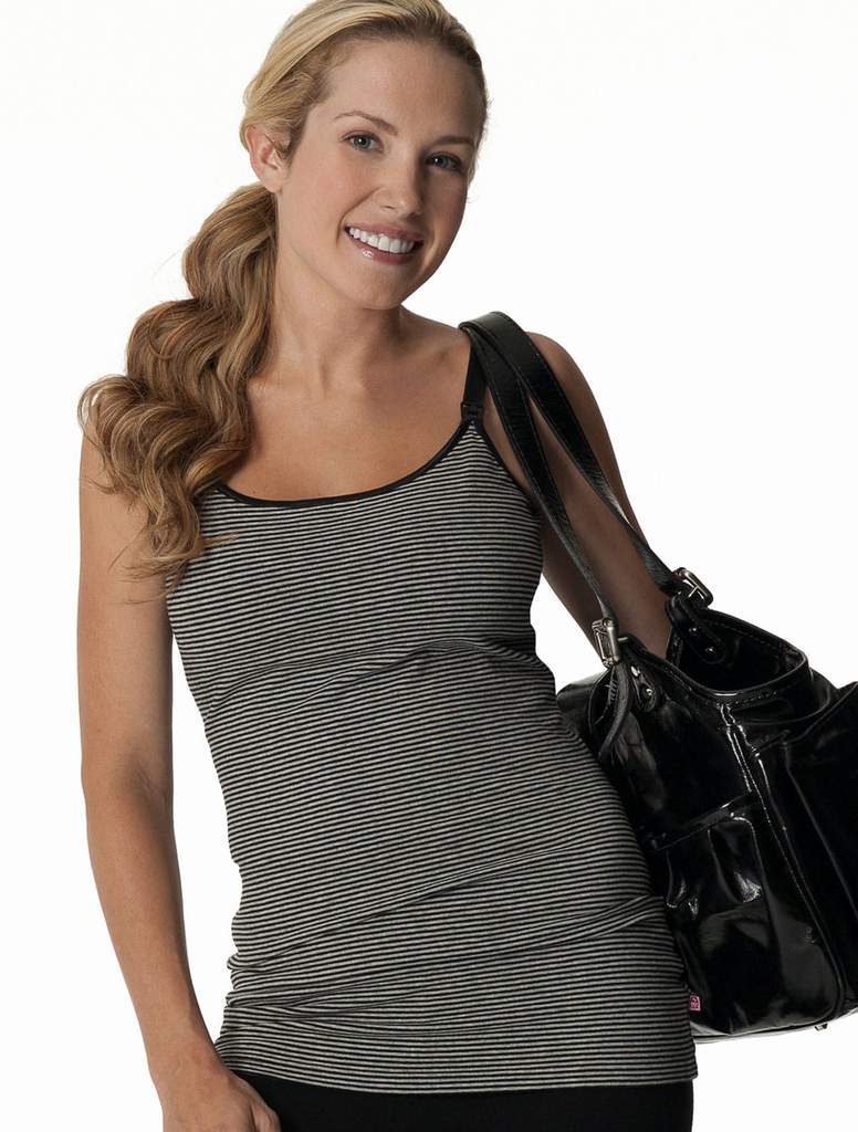 Nursing Bra Long Top with Adjustable Chest