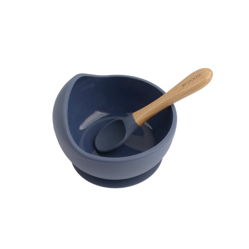 Silicone Spoon + Bowl Set