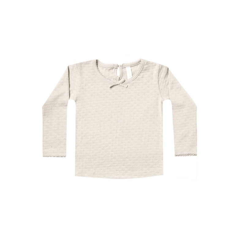 Pebble L/S Pointelle