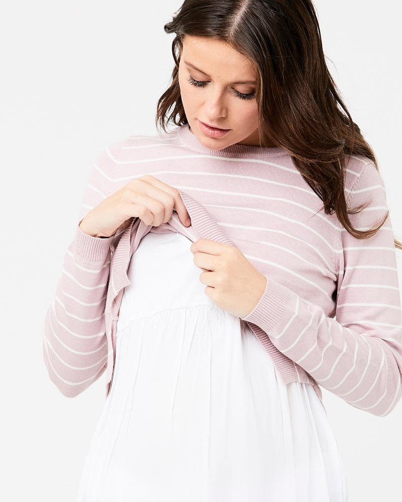 Sia Long Sleeve Stripe Nursing Tee