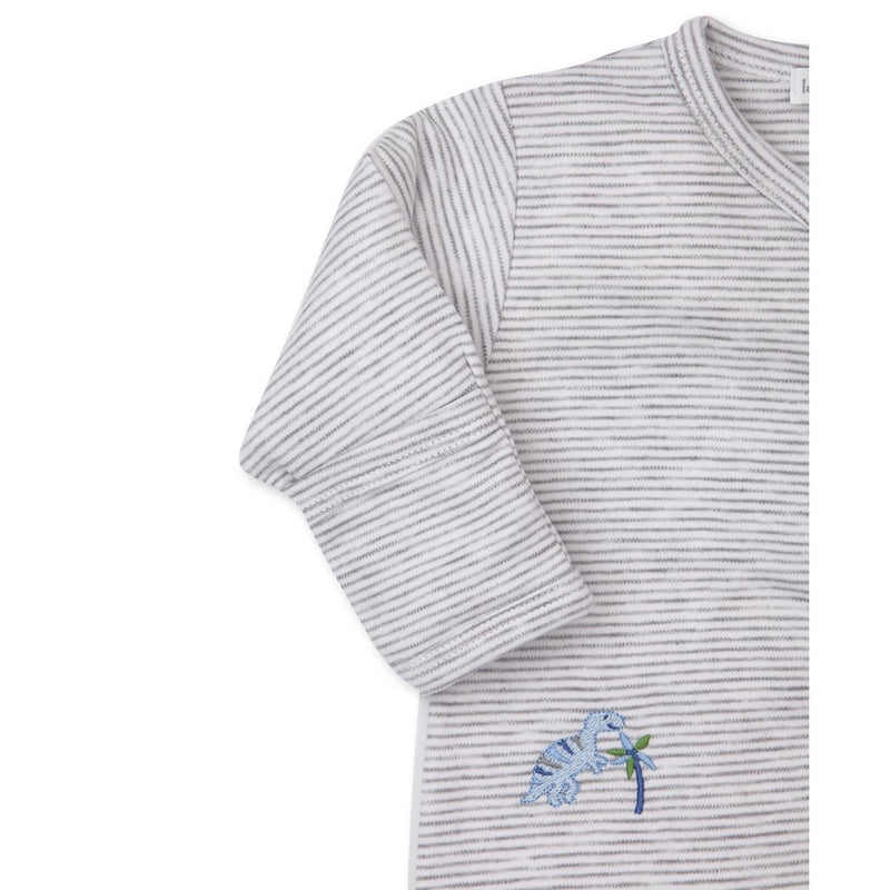 Happy-Saurus Striped Footie Pajama
