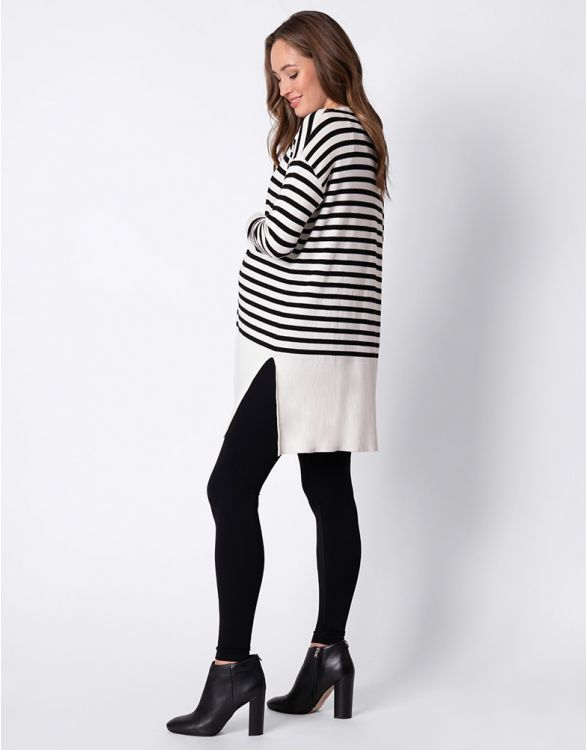 Jantine Stripe Long Line Button Tunic