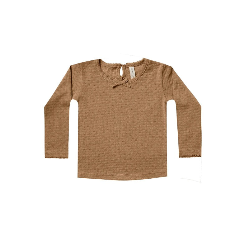 Walnut Long Sleeve Pointelle