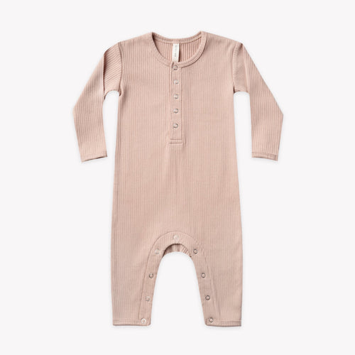 Ribbed organic coverall jumpsuit