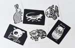 Art Cards for Baby, Black and White Baby Cards - Pets Collection
