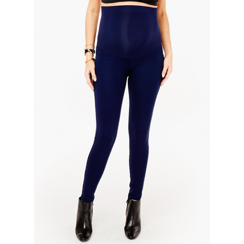 Skinny Ponte Ankle Pants with Whisper Crossover Panel