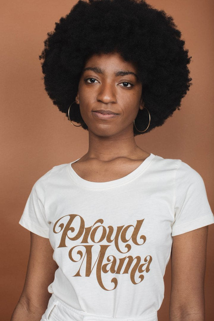 """Proud Mama"" Scoop Neck"