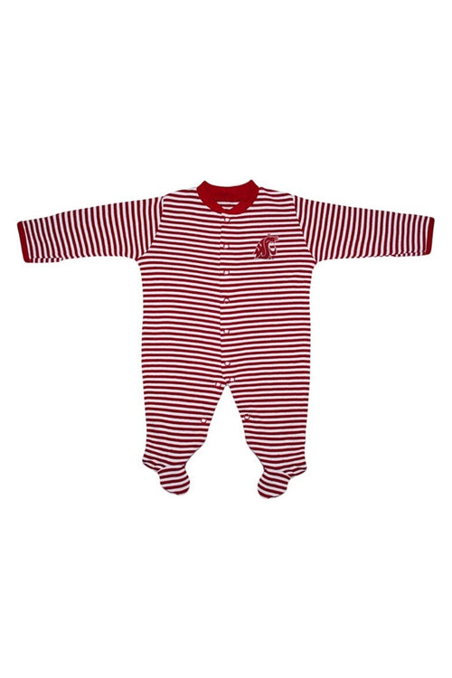 Washington State Long Sleeve Stripe Footie + Maternity + Baby