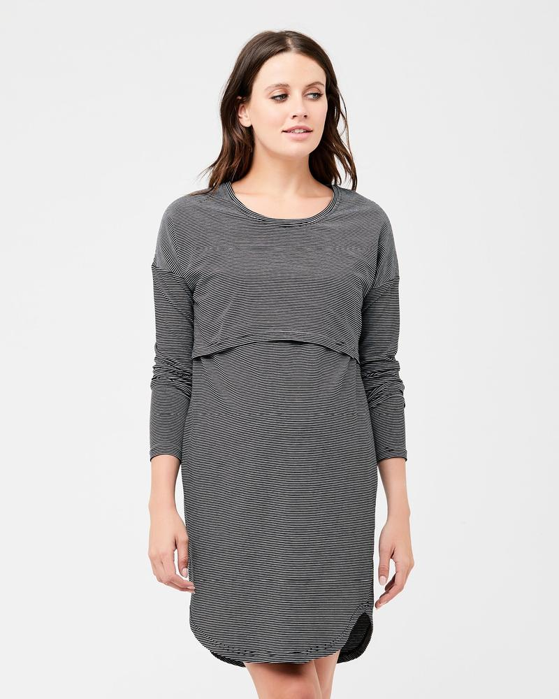 Long Sleeve Nursing Nightie