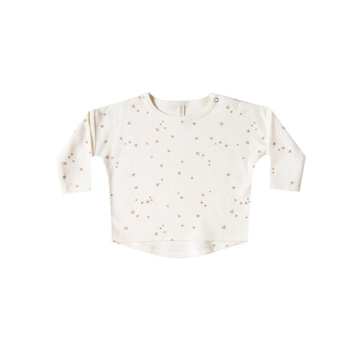 long sleeve baby tee with stars