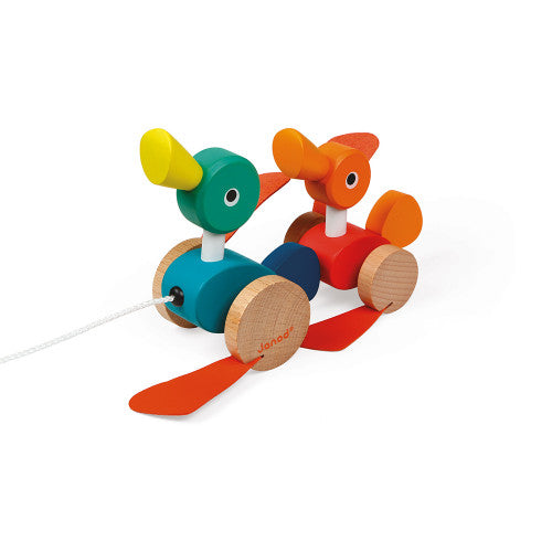 Zigolos Wood Pull Along Ducks