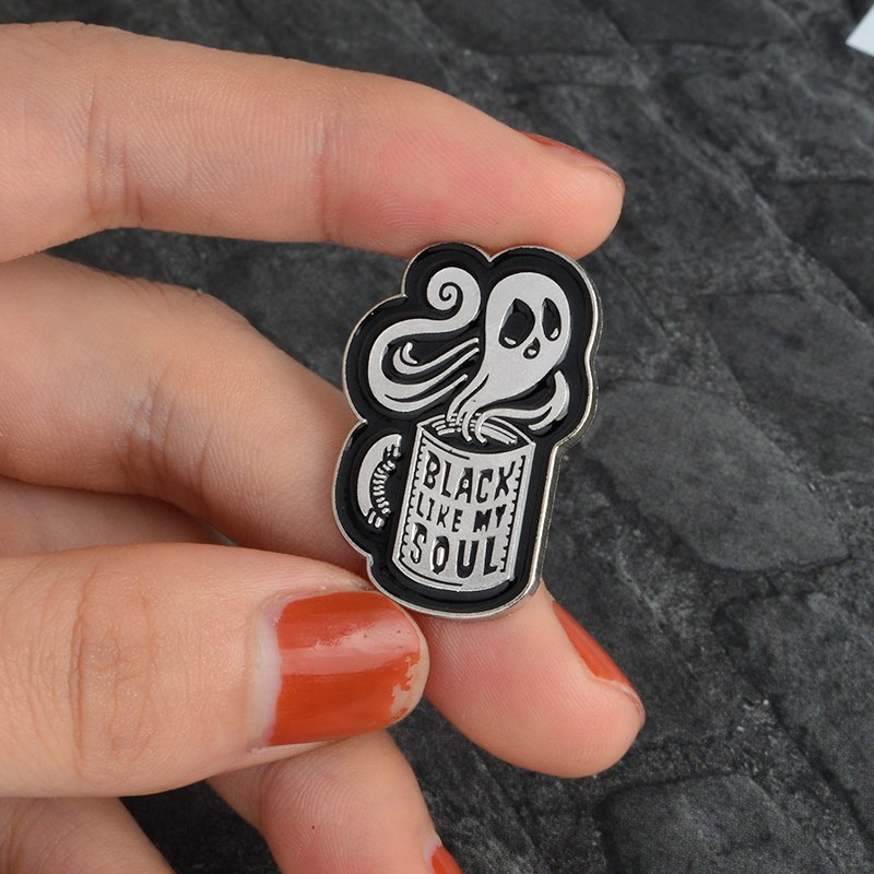 Haunted Coffee Pins
