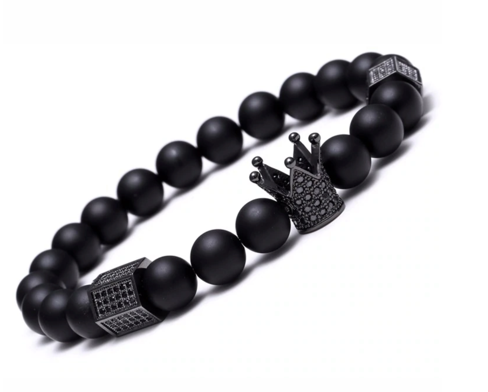 Crown Lava Stone Bracelet
