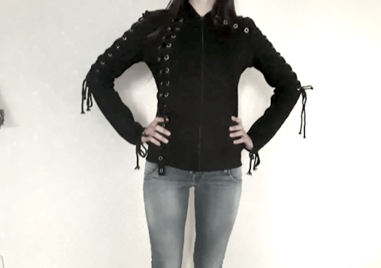 Women's Lace-Up Long-Sleeve Hoodie by Kinikiss (New for Autumn 2018)