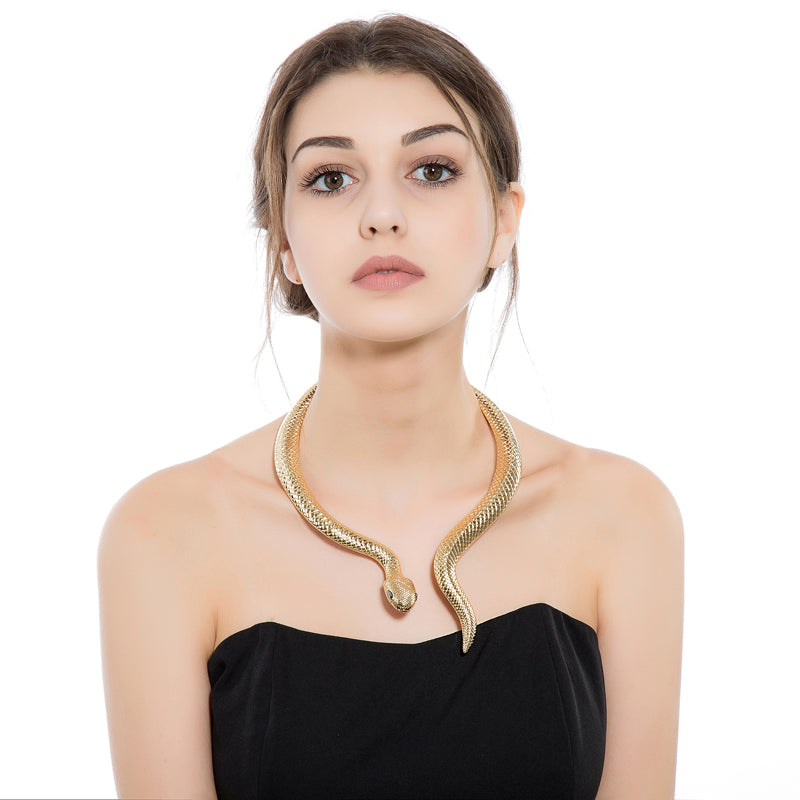 Snake Necklace in Silver or Gold