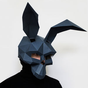3D Rabbit Skeleton Paper Mask