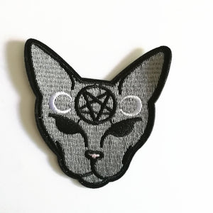 Satanic Cat Iron-On Patch