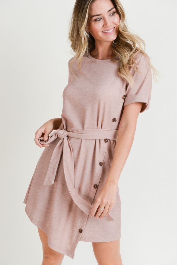 Monica Button Side Dress